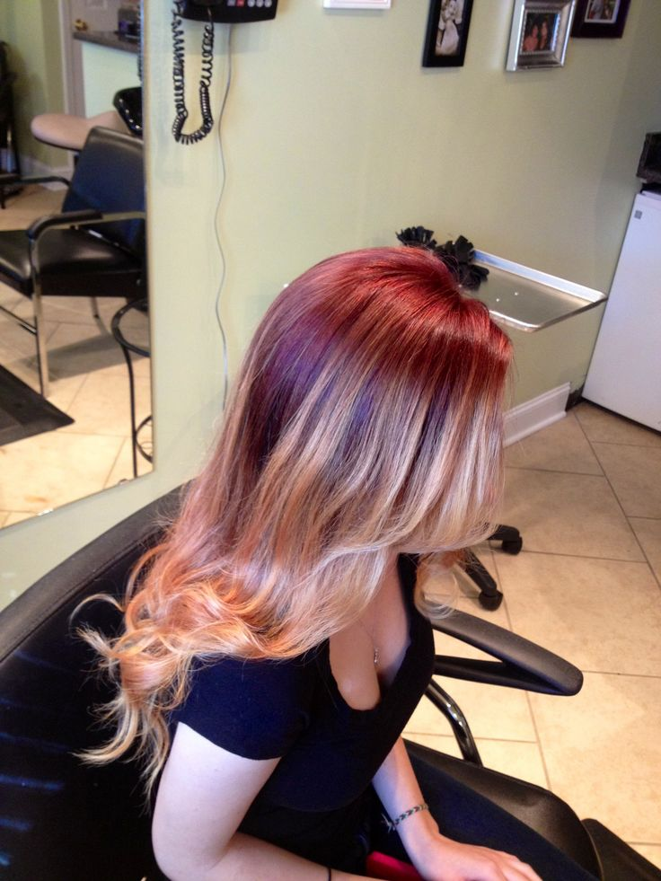 Red ombre - @Shannon Hart this would look so good on you!