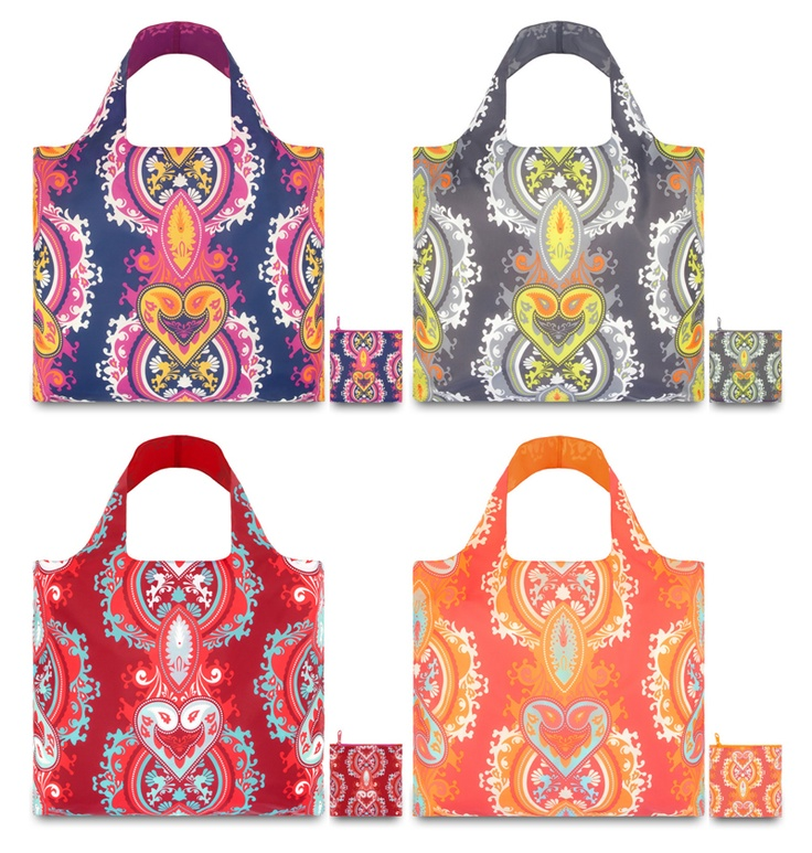 LOQi Opulent Collection. These amazing foldable shopping totes are available for only $13.90 at The Planet Traveller