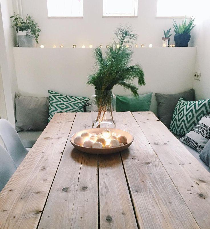 corner seat - bench - christmas decoration - scandinavian - kitchen corner - kitchen bench