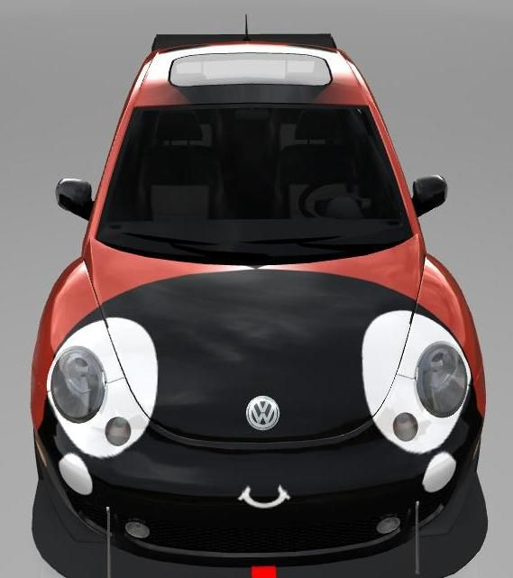 A cute Lady Bug car! With eyelashes it would be perfect!