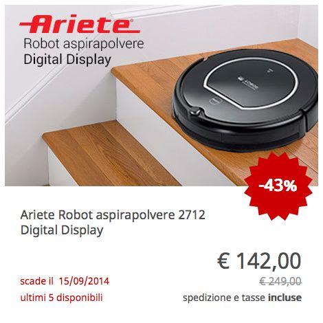 Offerta Ariete Robot Aspirapolvere Digital Display