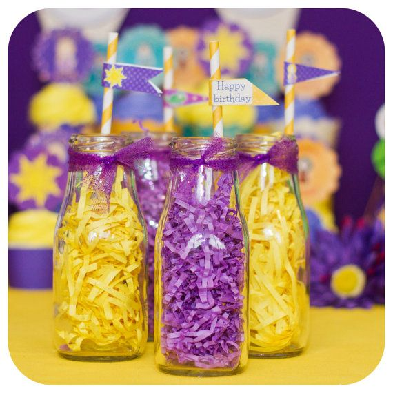 Tangled Tangled Birthday Party Tangled Straw by KraftsbyKaleigh
