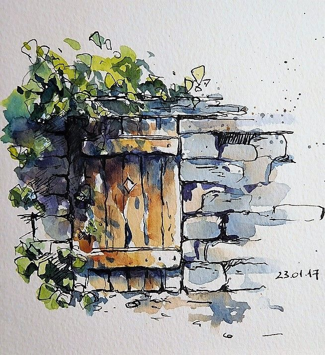 Sketches, travel diaries and watercolor, online sketch workshop, sketching, travelogues and watercolor, online workshop