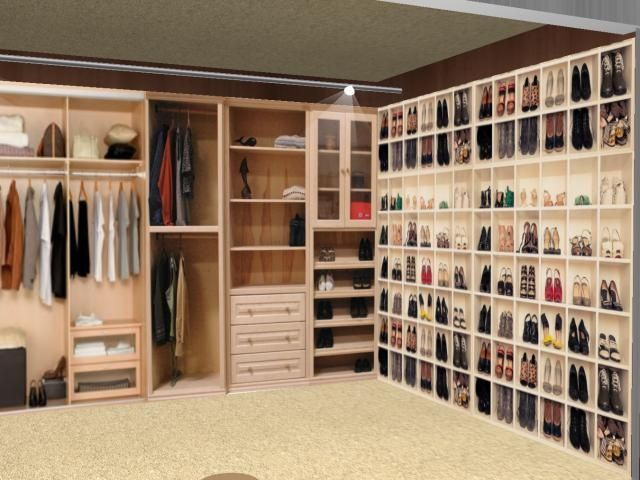 walk in women 39 s dressing rooms have a nicely organized