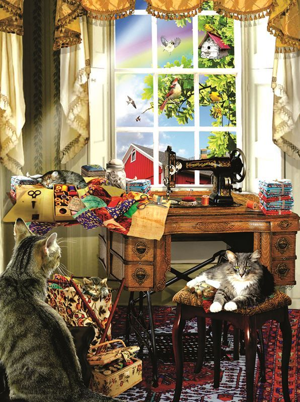 The Sewing Room (1000 Piece Puzzle by SunsOut) in 2018 Daddy