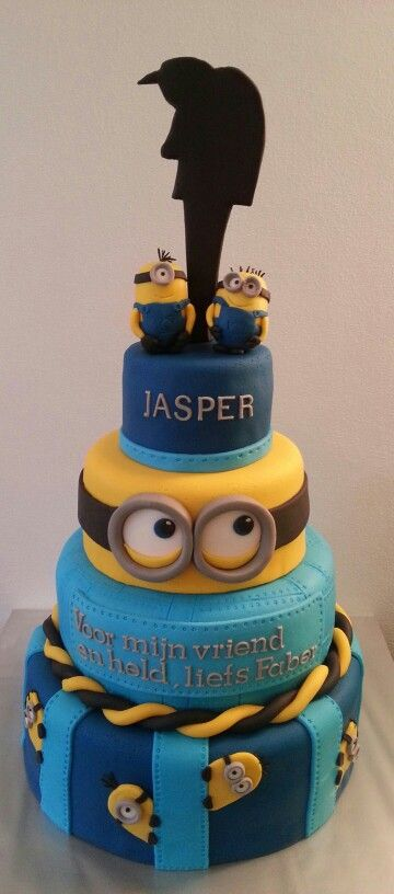 Despicable Me cake - For all your cake decorating supplies, please visit craftcompany.co.uk