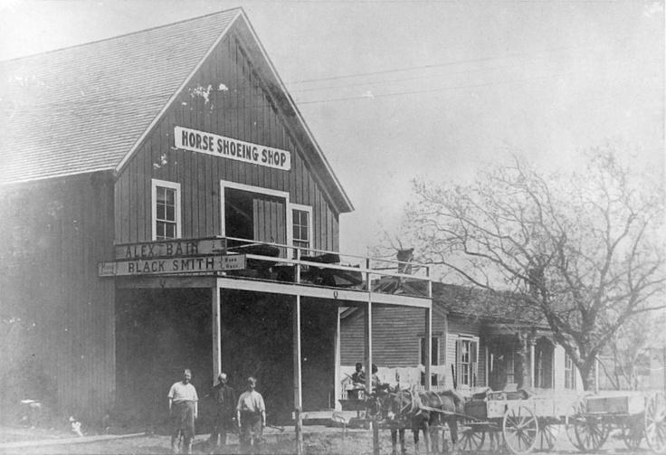 Alan Bain's Blacksmith Shop - Taylor, TX (n.d.)