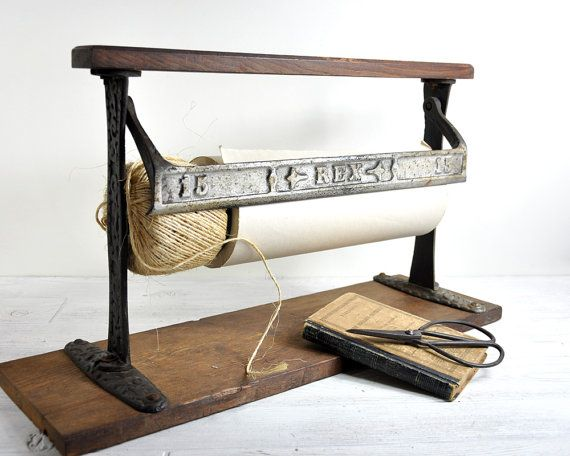 Antique General Store Paper Roll Cutter Industrial Paper