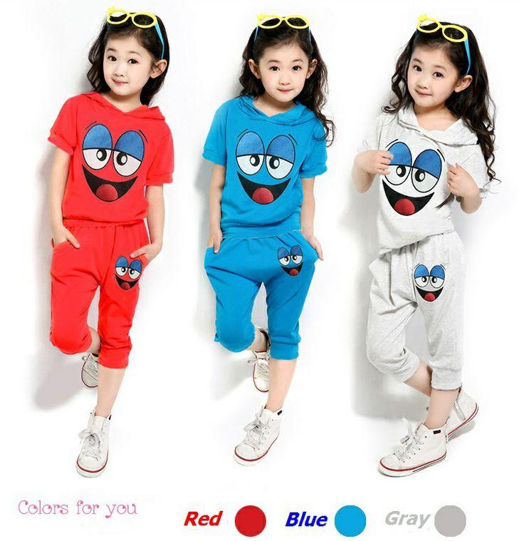 New 2014 Summer Baby Set Children's set unisex kids t shirt+pants undershirt Shorts Children's clothing cotton smiling face suit $8.95