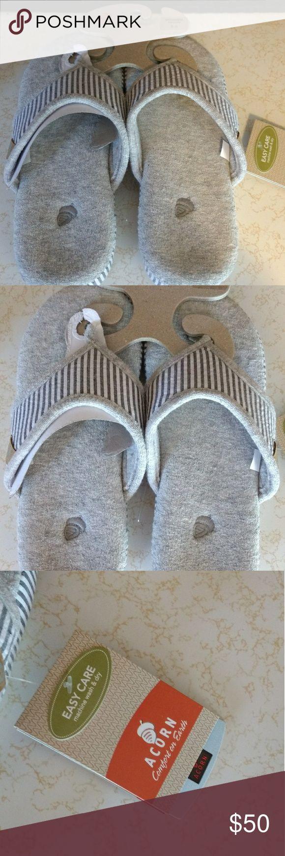 Acorn spa thongs Brand new, very cushy and soft. Acorn Shoes