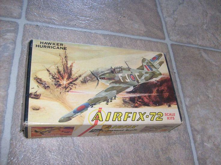 AIRFIX British WWII HAWKER HURRICANE MODEL KIT FIGHTER 1/72 VINTAGE AIRPLANE MIB #Airfix