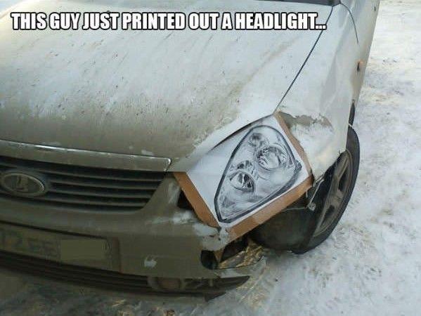 fix car headlight