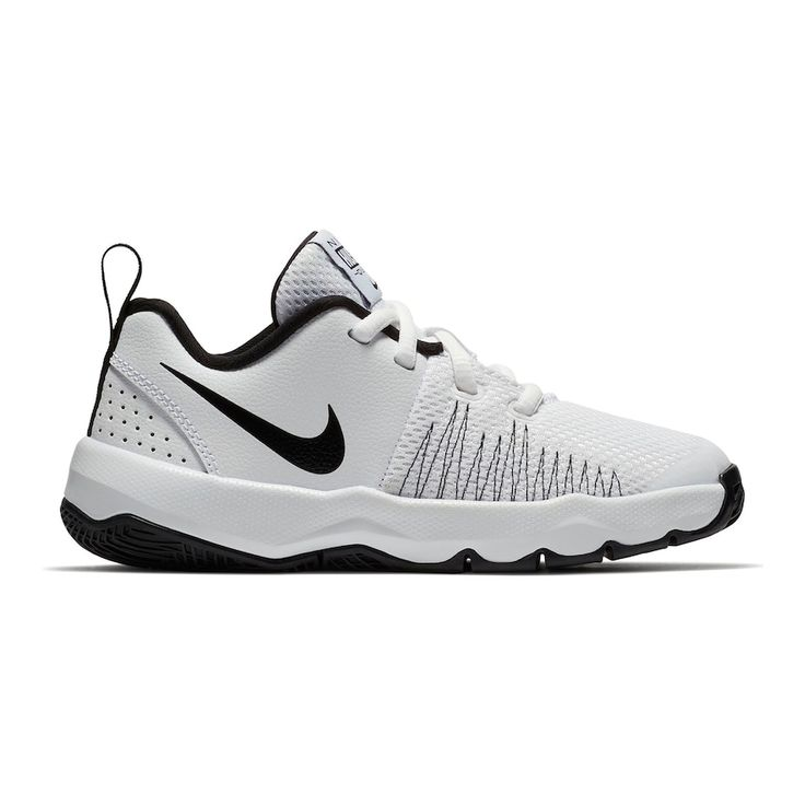 Nike Team Hustle Quick Grade School Boys' Basketball Shoes, Size: 3.5, White