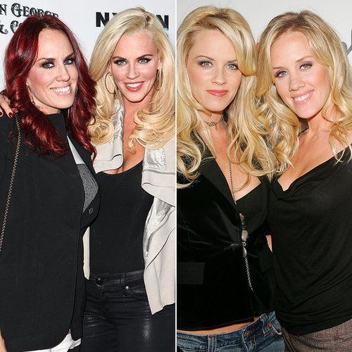 Jenny, Joanne, and Amy McCarthy   In addition to being first cousins with actress Melissa McCarthy, Jenny McCarthy has three sisters: Joanne, Amy, and Lynette. Can you see the resemblance?                  Source: Getty