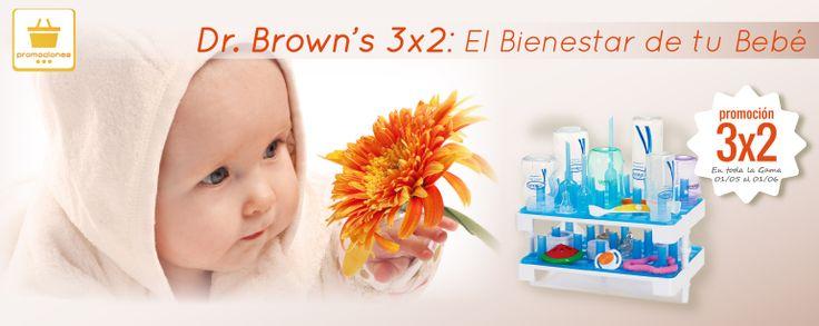 Dr. Brown's 3x2: El Bienestar de tu Bebé.  Dr. Brow's, su foco ha sido siempre la creación de productos innovadores para promover la buena salud y nutrición óptima del bebé.  Dr. Brown's cuenta con un amplio abanico de productos; mordedores, chupetes, sacaleches, bolsas almacenadoras de leche… Diseñados para el bienestar y la salud de tu bebé.  Desde hoy y hasta el próximo 30 de Junio en La Farmacia Arribas de Parets encontraras todos los productos Dr. Brown's al 3X2.