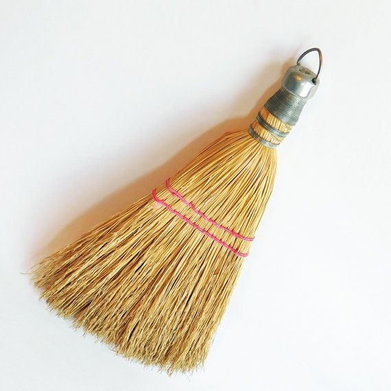 Vintage Small Fit-Rite Straw Whisk Broom Wire by vintagedazzle