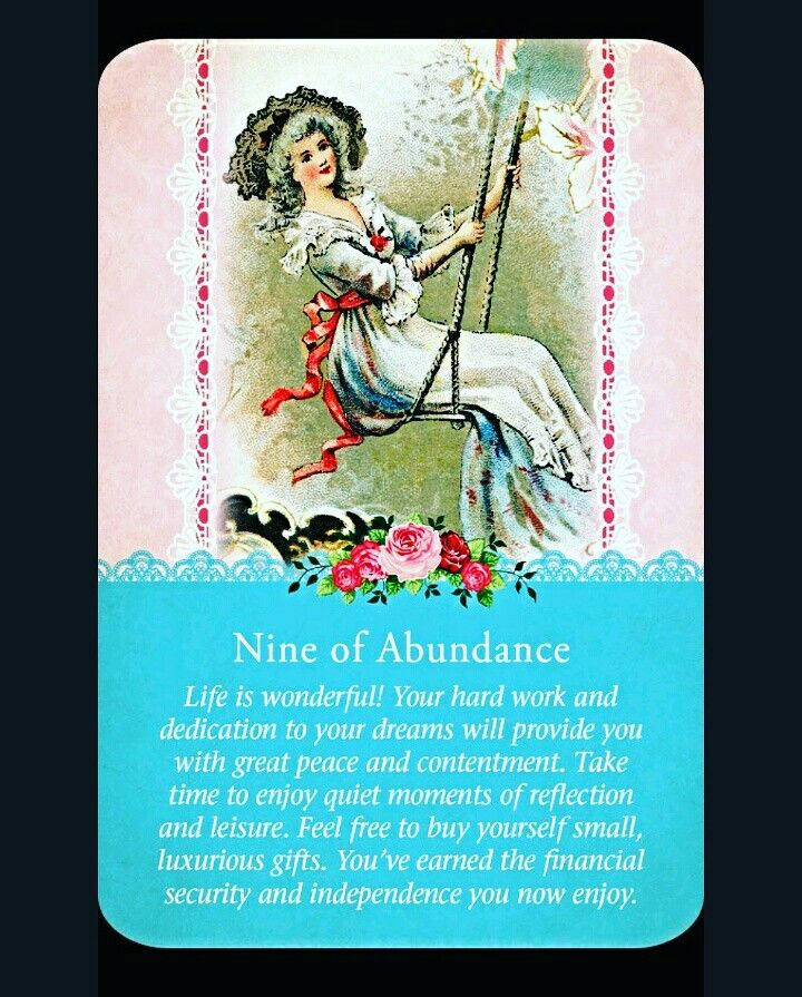~Nine of Abundance card from Guardian Angel Tarot Cards by Doreen Virtue and Radleigh Valentine~