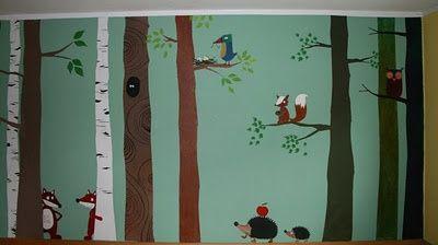 Wald – Wand – Tiere                                                             … – Kinderzimmer ideen