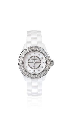 Chanel Watch <3J12 Diamonds, Chanel Watches, Chanel J12, Chanel White, J12 Watches, J12 White, Accessories, Ceramics Diamonds, White Ceramics