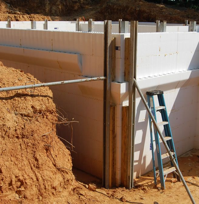 117 best images about icf walls on pinterest for Foam block foundation prices