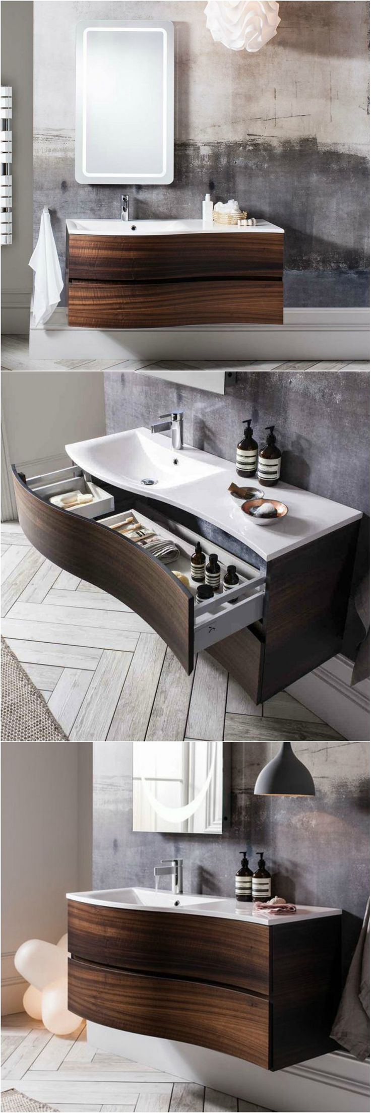 Add A Look And Feel Of Luxury To Your Bathroom With This Handleless Unit  From Bauhaus