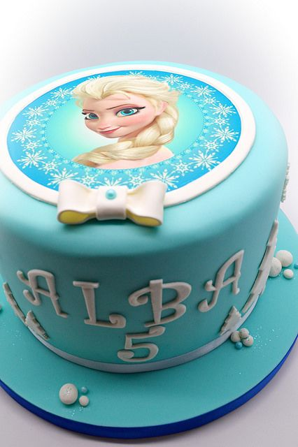 La tarta de Frozen