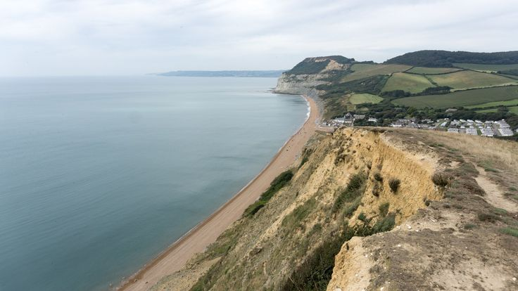 View of the Jurassic Coast from Golden Cap, Dorset, England