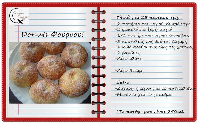 Θα σε κάνω Μαγείρισσα!: Donuts Φούρνου!