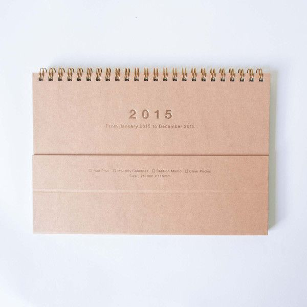 Mark's 2015 Notebook Calendar Magnet | Omoi Zakka Shop