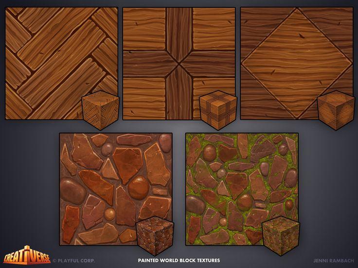 ArtStation - Creativerse world block textures, Jenni Rambach