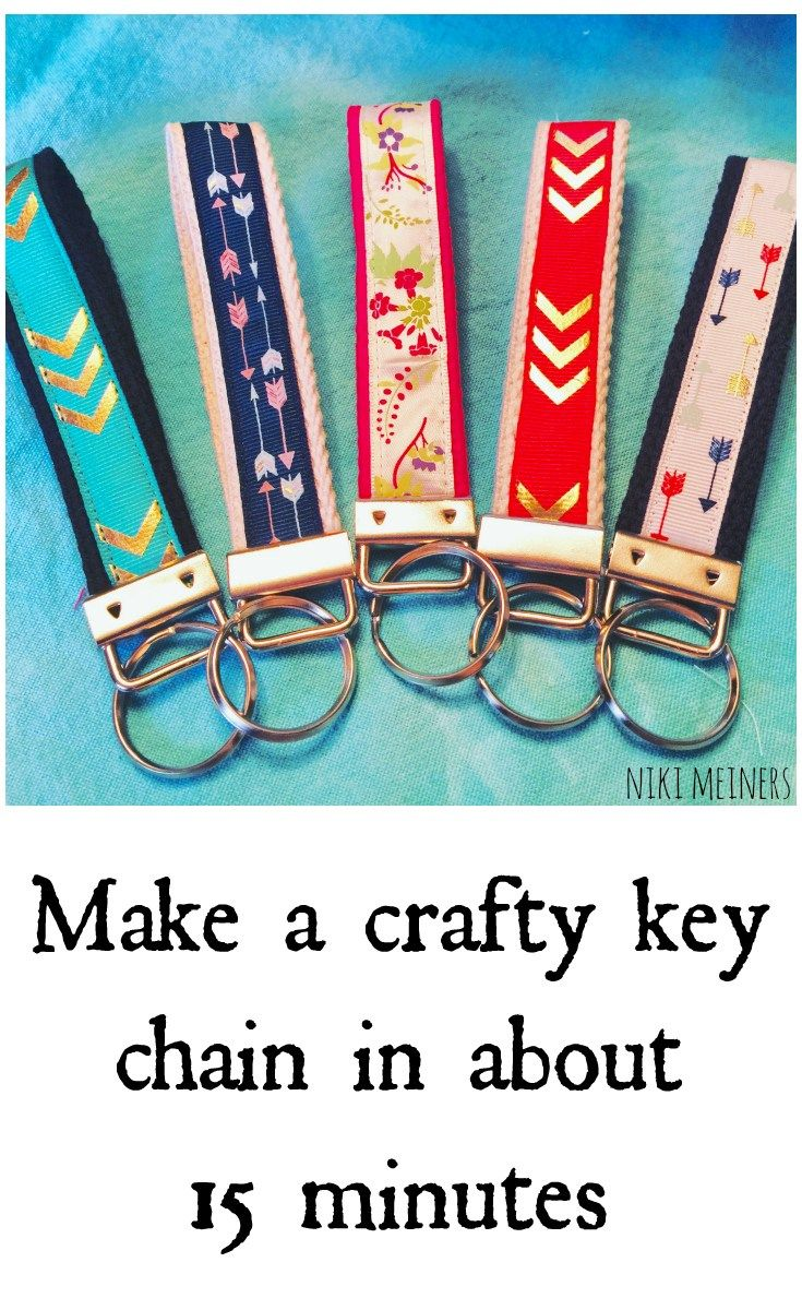 Make a crafty key chain in 15 minutes or less.  A great craft project for teens, tweens, camps or even a Valentine's Day gift idea. Also a great item to sell at craft shows.