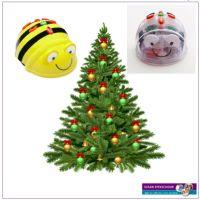 Kerst met Bee-Bot en Blue-Bot, gratis downloads voor programmeren
