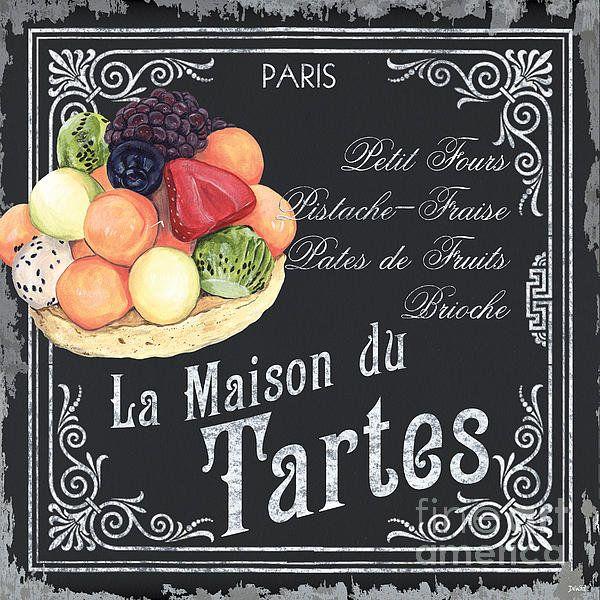 La Maison Du Tartes Print By Debbie Dewitt
