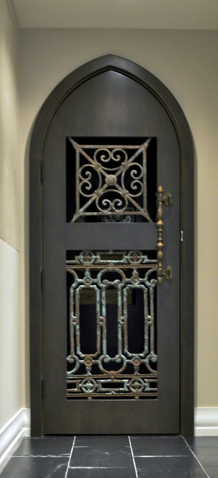 O2 Developments- Bearspaw renovation- Wine cellar custom door