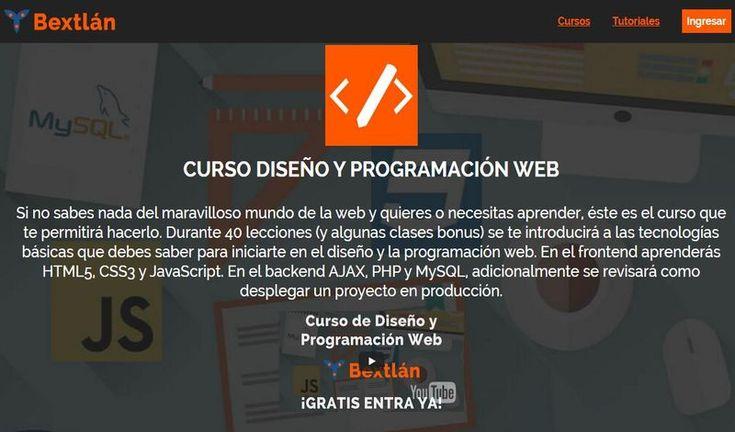 Curso gratuito, y en línea, de Diseño y Programación Web, se compone de 40 lecciones y clases bonus adicionales. No son necesarios conocimientos previos.