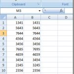 Find Out if Two Cells in Excel Contain Exactly the Same Number Values