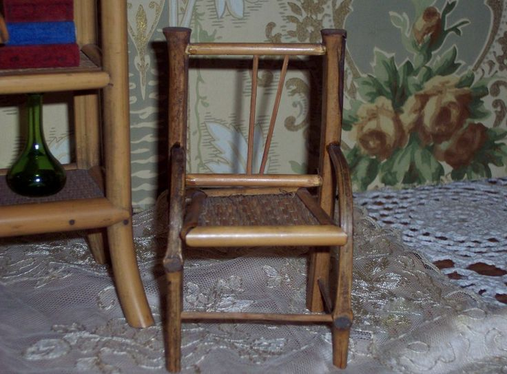 Antique Bamboo Chair | Antique Bamboo Etegere, Table, and Chair Doll  Furniture! Early - 256 Best Antique Chinese Bamboo Furniture Images On Pinterest