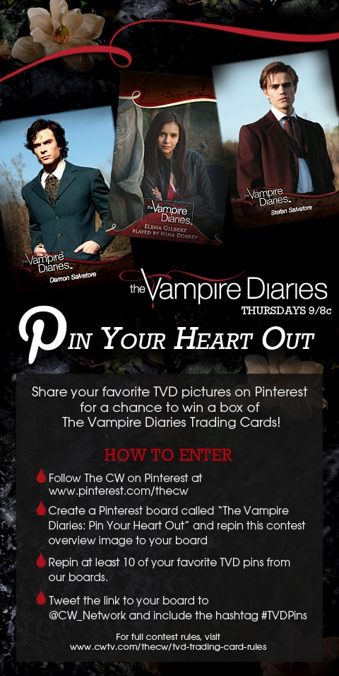 Enter for a chance to win The Vampire Diaries trading cards!
