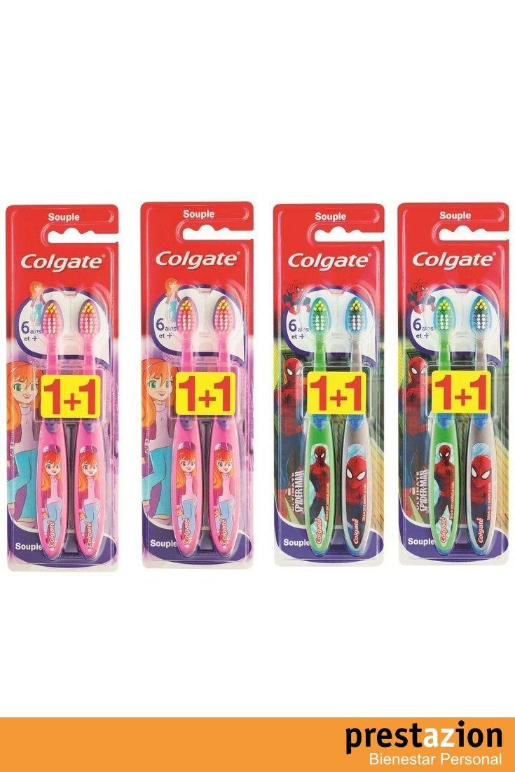 colgate smiles juego de cepillos de dientes para nios a partir de aos suave