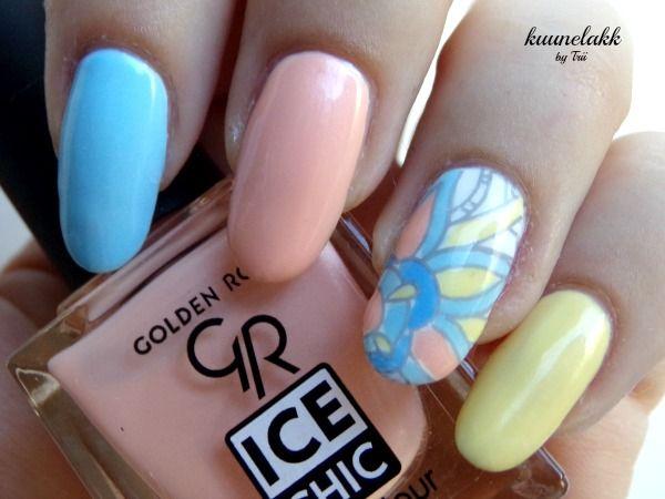 Kuunelakk by Trii : Pastelowe Golden Rose Ice Chic!