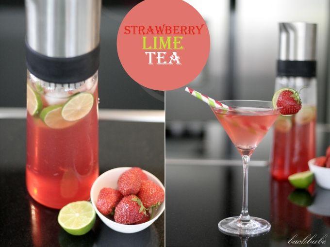 """""""Ice Tea Monday"""" - Strawberry Lime Tea - der wahrscheinlich """"cocktailigste"""" Eistee aller Zeiten - Backbube"""