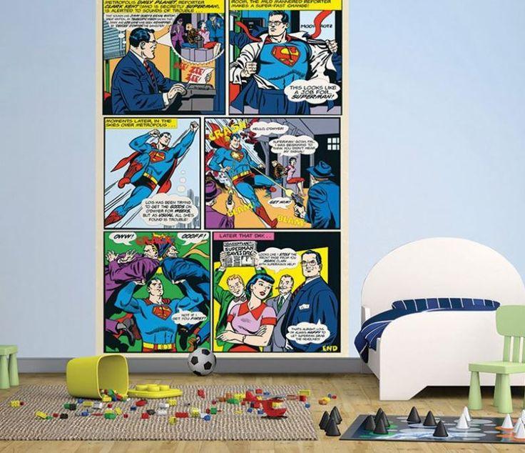 Dlaczego Dzieci Kochają Fototapety?   Bo bywają komiksowe!   https://decoart24.pl/Fototapeta-dla-dzieci-Superman-Komiks-158x232cm  #fototapetydladzieci #bajkowefototapety  #DecoArt24