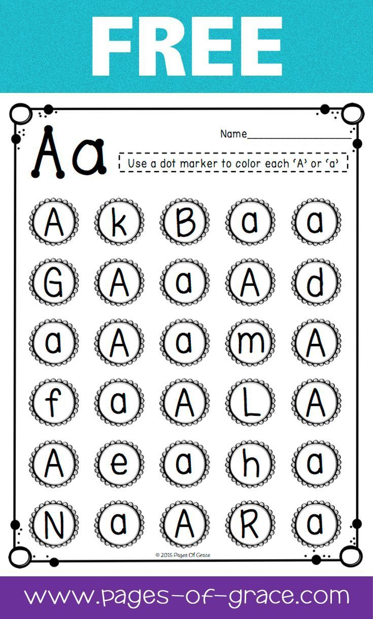 Are you looking for some great activities for teaching letter recognition? Help your students master uppercase and lowercase letters with this activity packet. Kids practice identifying letters with 3 engaging worksheets and 2 fun center activities. Great for preschool and kindergarten classrooms and homeschool. My kiddos love learning the alphabet with this packet! This is a free sample from the complete packet. Click on the picture to see more.: