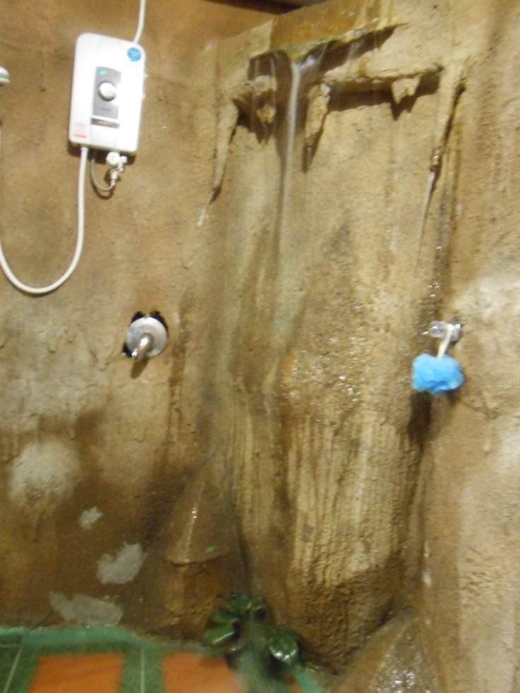 Shower cave with waterfall