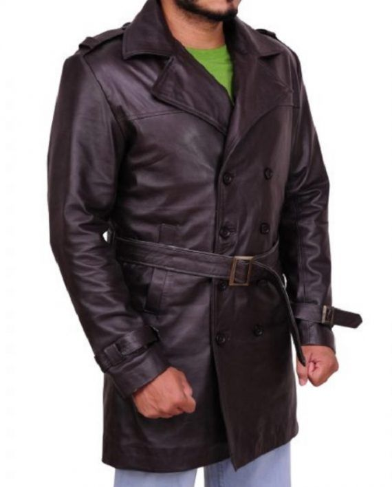 Watchmen Jackie Earle Haley Leather Coat (1)