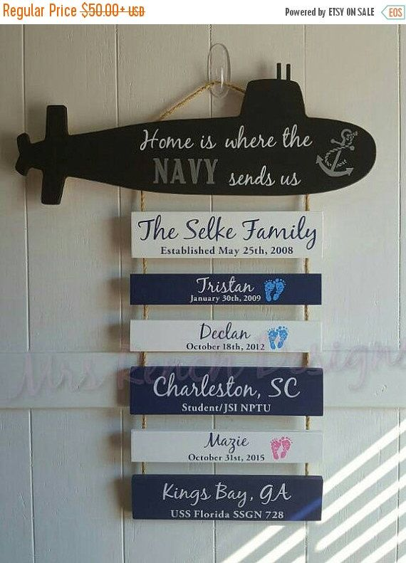 ON SALE Home is where the Navy sends Us *Submarine*, Patriotic Wall Décor, Submarine Life, Us Navy Submarines, Submariners, Sub Family by MrsRenchDesigns on Etsy https://www.etsy.com/listing/258227851/on-sale-home-is-where-the-navy-sends-us