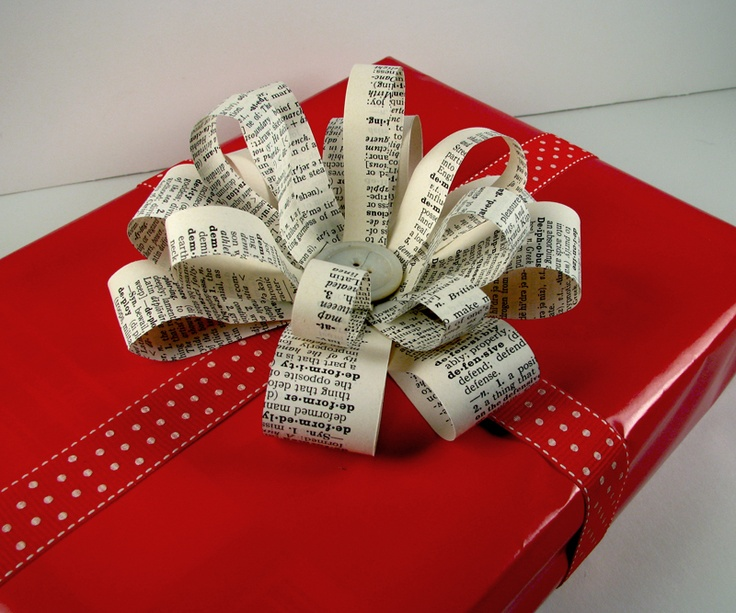Vintage Page Designs: 6 Ways to Wrap Gifts Using Vintage Paper