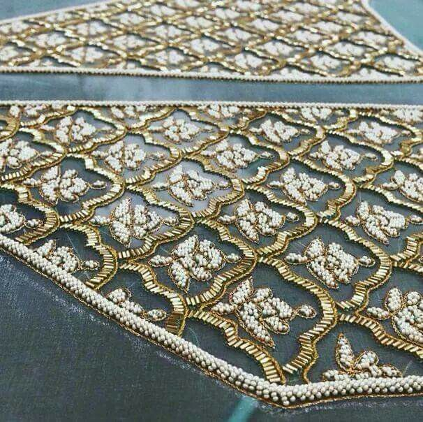 #embroidery #embellishment   Source unknown