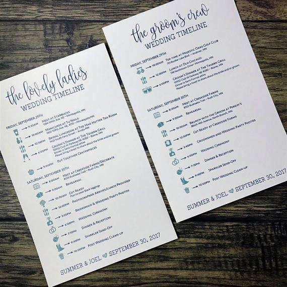 Ponad 25 najlepszych pomysłów na Pintereście na temat Wedding day - wedding timeline