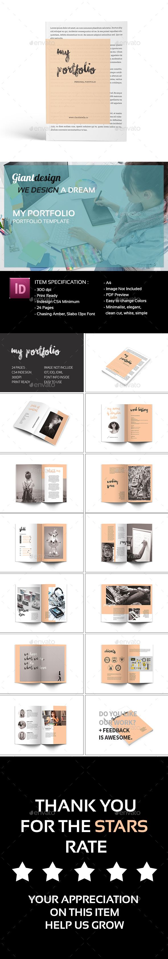 My Portfolio — InDesign INDD #catalogue #creative • Available here → https://graphicriver.net/item/my-portfolio/16139136?ref=pxcr